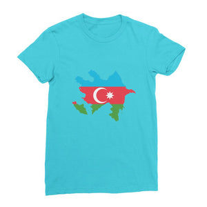 Azerbaijan Continent Flag Womens Fine Jersey T-Shirt Apparel Flagdesignproducts.com