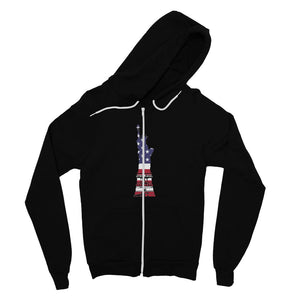 Usa Flag State Of Liberty Fine Jersey Zip Hoodie Apparel Flagdesignproducts.com