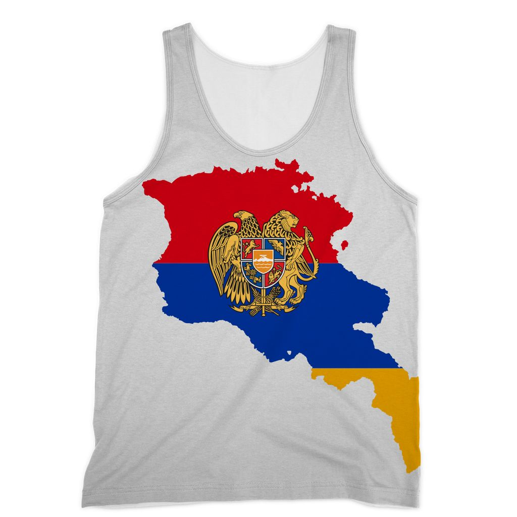 Armenia Continent Flag Sublimation Vest Apparel Flagdesignproducts.com