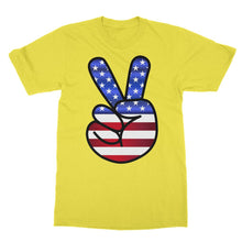 America Fingers Flag Softstyle Ringspun T-Shirt Apparel Flagdesignproducts.com