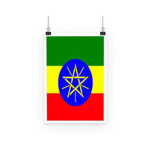 Flag Of Ethiopia Poster Wall Decor Flagdesignproducts.com