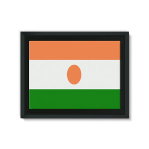 Flag Of Niger Framed Canvas Wall Decor Flagdesignproducts.com