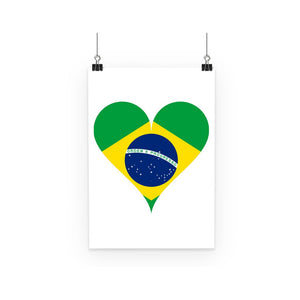 Brazil Heart Flag Poster Wall Decor Flagdesignproducts.com