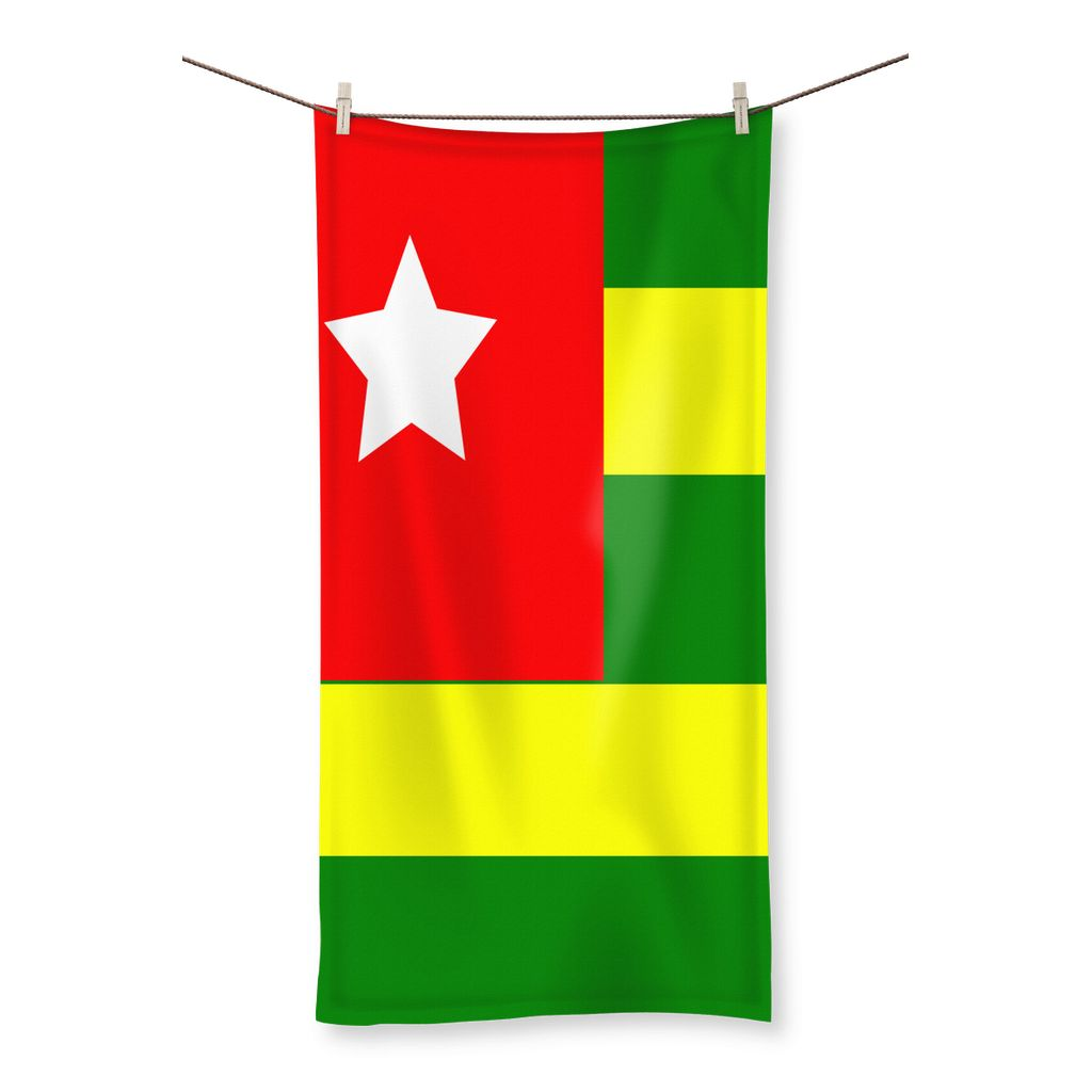 Flag Of Togo Beach Towel Homeware Flagdesignproducts.com
