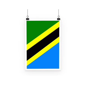 Flag Of Tanzania Poster Wall Decor Flagdesignproducts.com