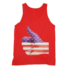 Usa Hand And Finger Flag Fine Jersey Tank Top Apparel Flagdesignproducts.com