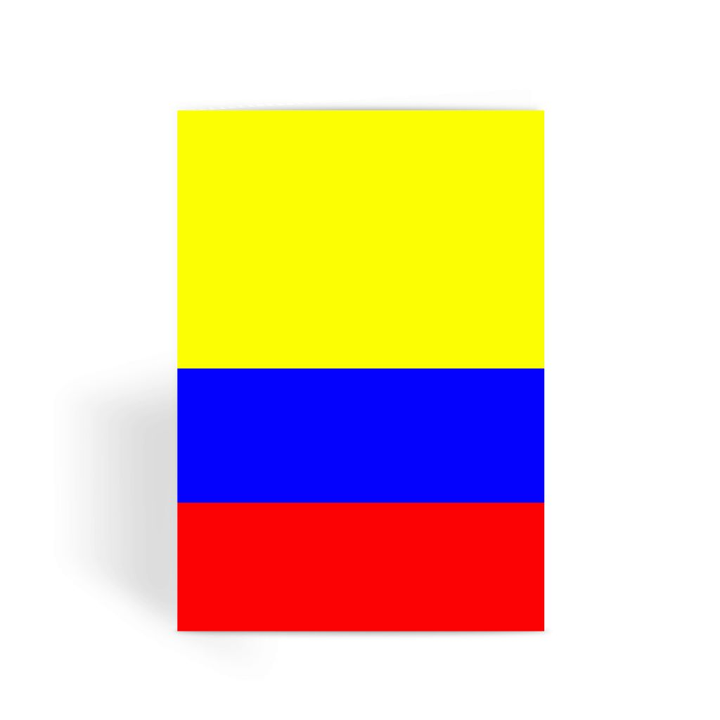 Flag Of Colombia Greeting Card Prints Flagdesignproducts.com