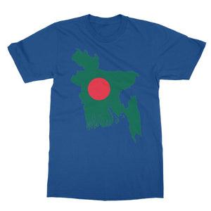 Bangladesh Continent Flag Softstyle Ringspun T-Shirt Apparel Flagdesignproducts.com