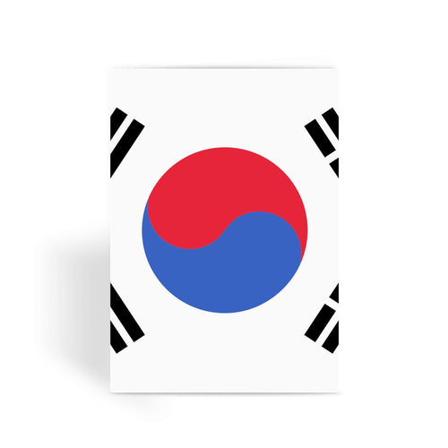 Basic South Korea Flag Greeting Card Prints Flagdesignproducts.com