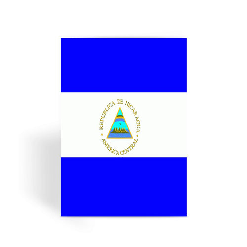 Flag Of Nicaragua Greeting Card Prints Flagdesignproducts.com