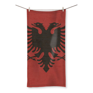 Albania Stone Wall Flag Beach Towel Homeware Flagdesignproducts.com