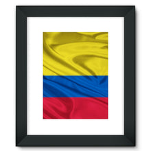 Waving Colombia Fabric Flag Framed Fine Art Print Wall Decor Flagdesignproducts.com
