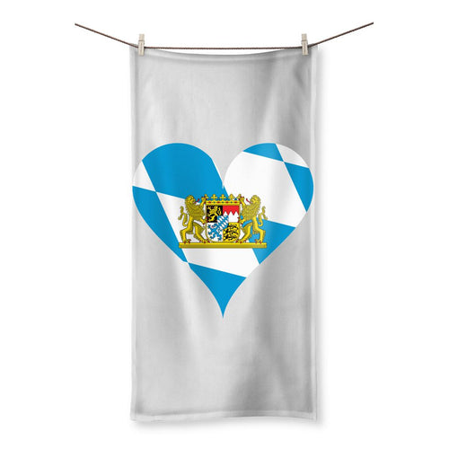 Bavaria Heart Flag Beach Towel Homeware Flagdesignproducts.com