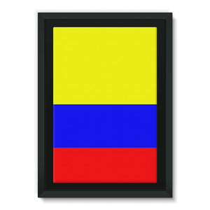 Flag Of Colombia Framed Eco-Canvas Wall Decor Flagdesignproducts.com