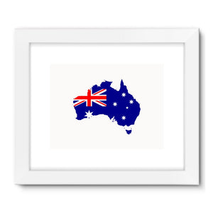 Australia Continent Flag Framed Fine Art Print Wall Decor Flagdesignproducts.com