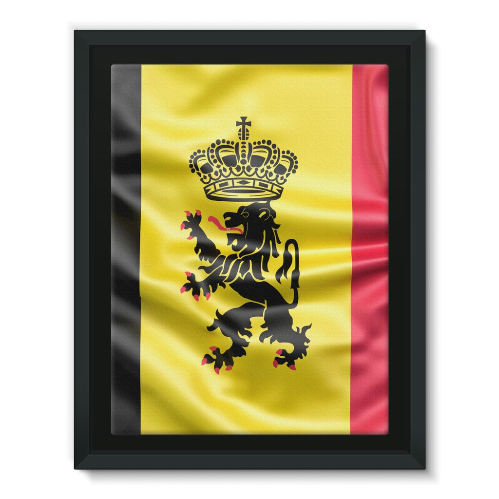 Fabric Belgium Flag Framed Canvas – FlagDesignProducts