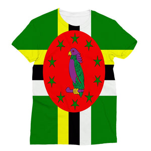 Flag Of Dominica Sublimation T-Shirt Apparel Flagdesignproducts.com
