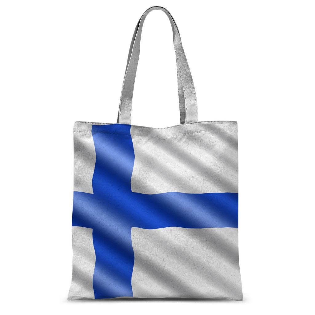 Waving Finland Flag Sublimation Tote Bag Accessories Flagdesignproducts.com