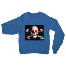 Usa Flag Pirate Heavy Blend Crew Neck Sweatshirt Apparel Flagdesignproducts.com