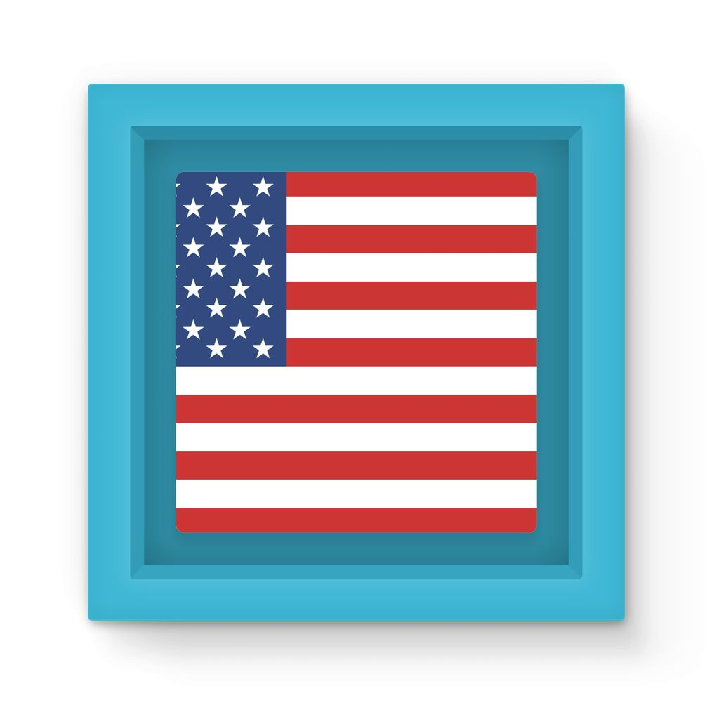Basic America Flag Magnet Frame Homeware Flagdesignproducts.com