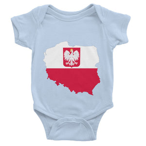Poland Continent Flag Baby Bodysuit Apparel Flagdesignproducts.com