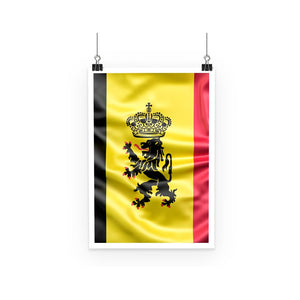 Fabric Belgium Flag Poster Wall Decor Flagdesignproducts.com