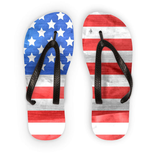 Fabric Usa Flag Flip Flops Accessories Flagdesignproducts.com