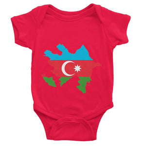 Azerbaijan Continent Flag Baby Bodysuit Apparel Flagdesignproducts.com