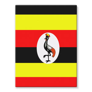 Flag Of Uganda Stretched Eco-Canvas Wall Decor Flagdesignproducts.com