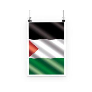 Waving Palestina Flag Poster Wall Decor Flagdesignproducts.com