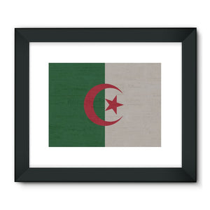 Algeria Stone Wall Flag Framed Fine Art Print Decor Flagdesignproducts.com