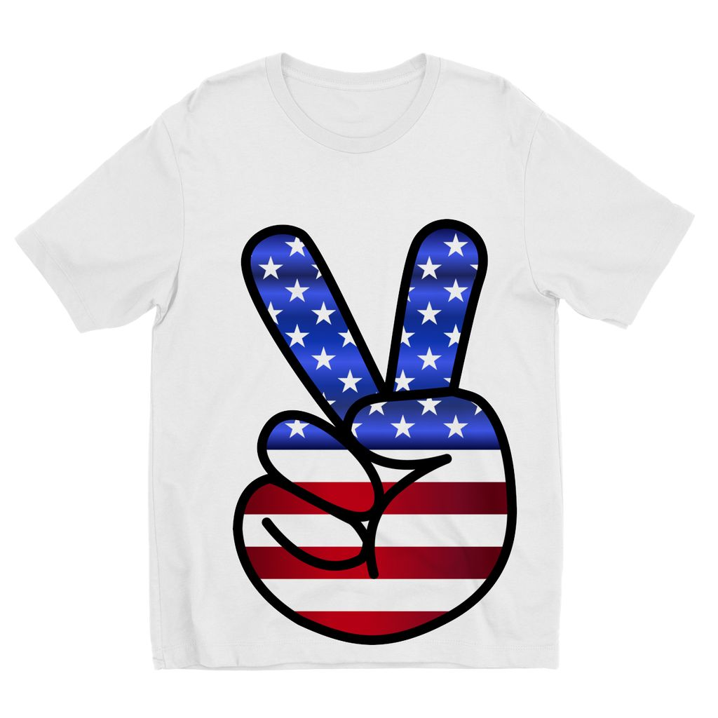 America Fingers Flag Kids Sublimation T-Shirt Apparel Flagdesignproducts.com