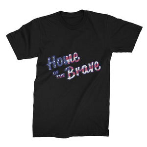 Home Of The Brave Usa Flag Unisex Fine Jersey T-Shirt Apparel Flagdesignproducts.com