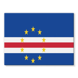 Flag Of Cape Verde Stretched Canvas Wall Decor Flagdesignproducts.com