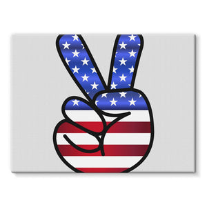 America Fingers Flag Stretched Canvas Wall Decor Flagdesignproducts.com