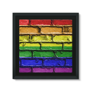Colorful Lgbt Rainbow Flag Framed Canvas Wall Decor Flagdesignproducts.com