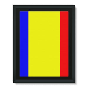 Flag Of Chad Framed Canvas Wall Decor Flagdesignproducts.com