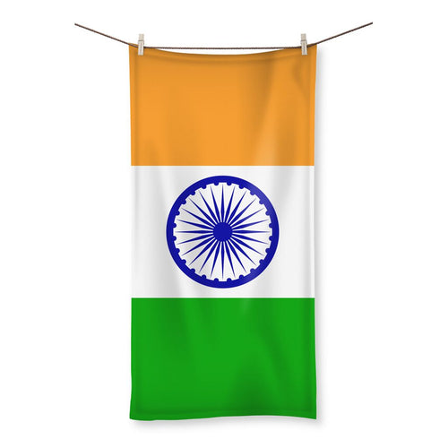 Basic India Flag Beach Towel Homeware Flagdesignproducts.com