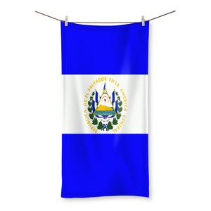 Flag Of El Salvador Beach Towel Homeware Flagdesignproducts.com