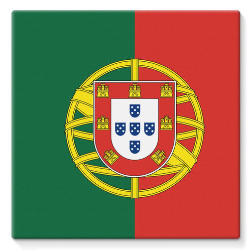 Basic Portugal Flag Stretched Eco-Canvas Wall Decor Flagdesignproducts.com