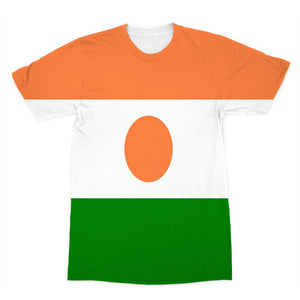 Flag Of Niger Sublimation T-Shirt Apparel Flagdesignproducts.com