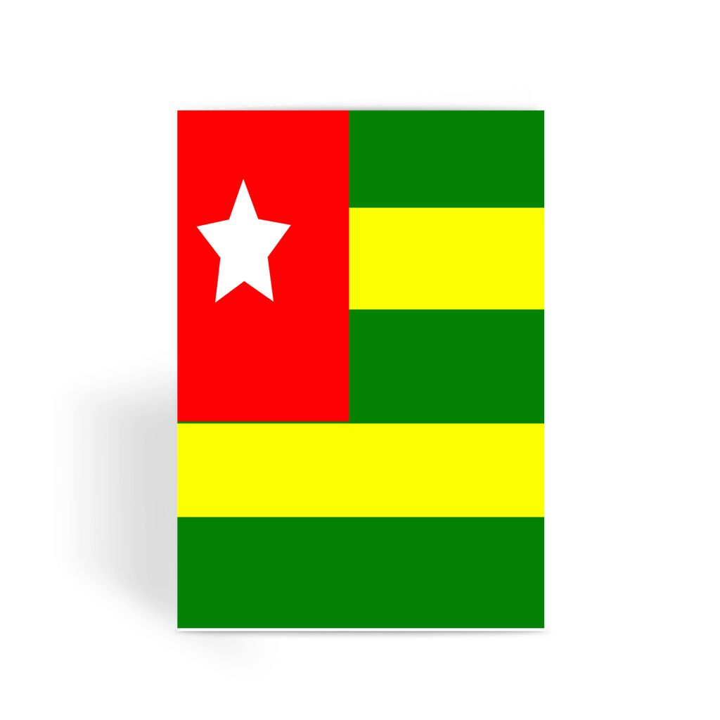Flag Of Togo Greeting Card Prints Flagdesignproducts.com