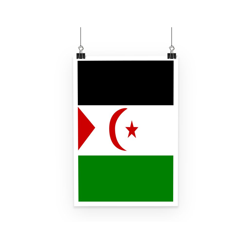 Flag Of Western Sahara Poster Wall Decor Flagdesignproducts.com