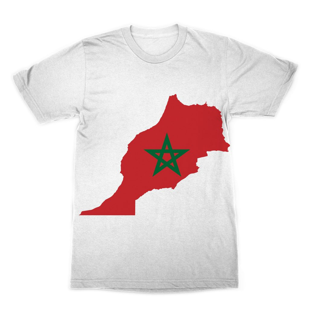 Morocco Continent Flag Sublimation T-Shirt Apparel Flagdesignproducts.com