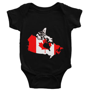 Canada Continent Flag Baby Bodysuit Apparel Flagdesignproducts.com