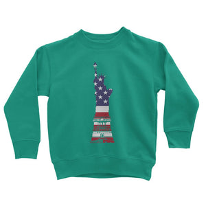 Usa Flag State Of Liberty Kids Sweatshirt Apparel Flagdesignproducts.com