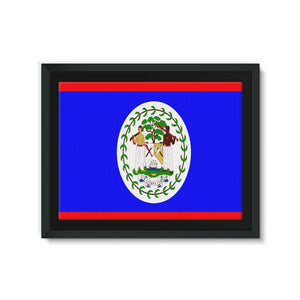 Flag Of Belize Framed Eco-Canvas Wall Decor Flagdesignproducts.com