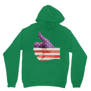 Usa Hand And Finger Flag Heavy Blend Hooded Sweatshirt Apparel Flagdesignproducts.com