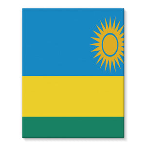 Flag Of Rwanda Stretched Eco-Canvas Wall Decor Flagdesignproducts.com