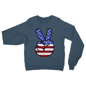 America Fingers Flag Heavy Blend Crew Neck Sweatshirt Apparel Flagdesignproducts.com